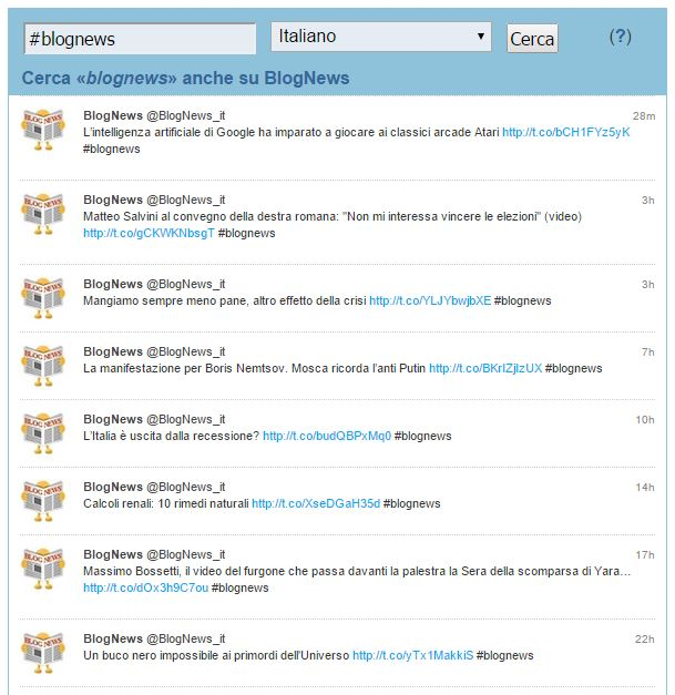 TwitterScan: #blognews